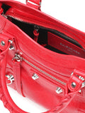 Mini Classic City Red Leather Tote