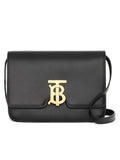 Small Black Leather TB Bag