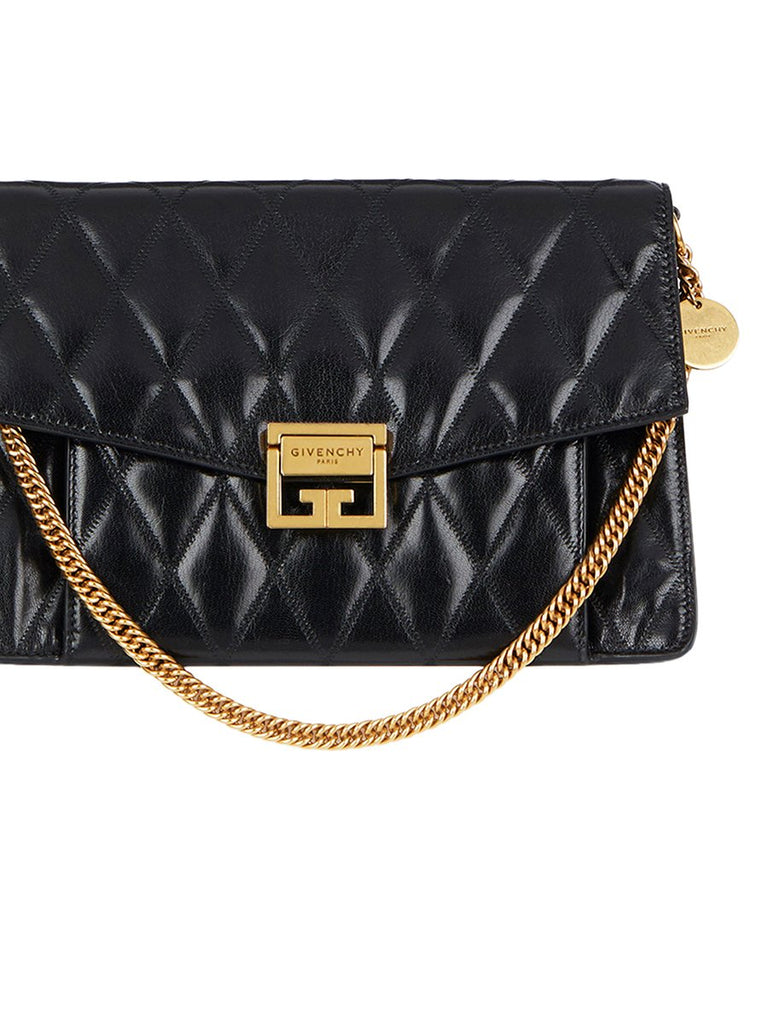 Medium GV3 Bag In Black Diamond Quilted Leather