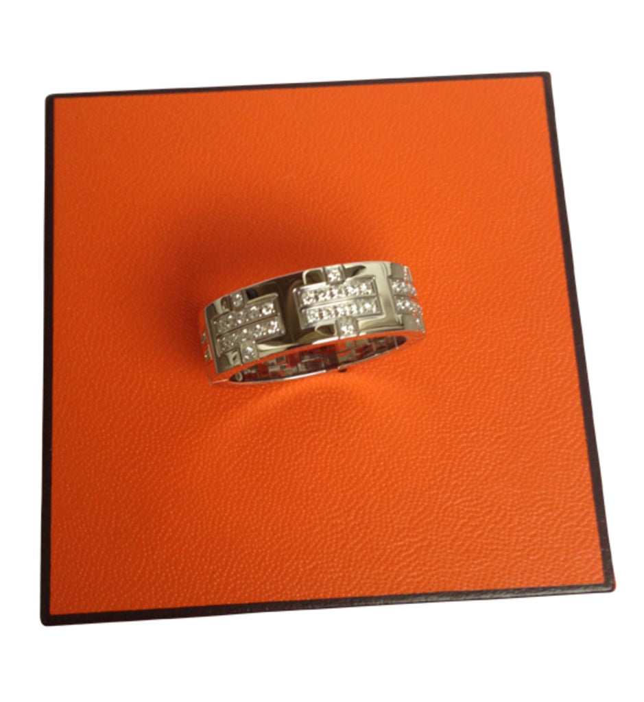 Hermès ring Kilim Diamonds