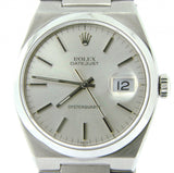 Pre Owned Mens Rolex Stainless Steel Oysterquartz Datejust with Silver Dial 1700