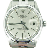 Pre Owned Mens Rolex Stainless Steel Datejust with a Silver Dial 1603