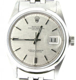 Pre Owned Mens Rolex Stainless Steel Datejust with a Silver Linen Dial 1600