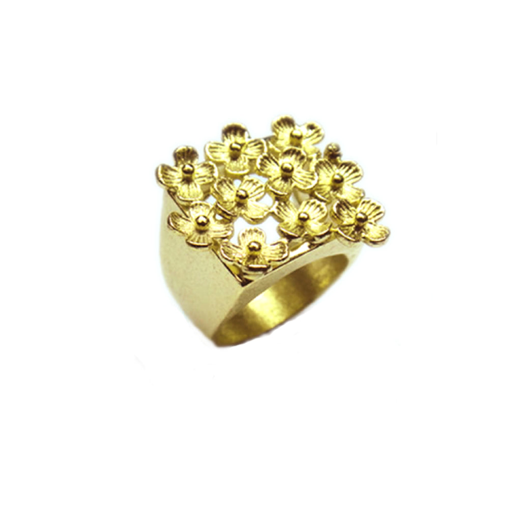 Gold Fleur - Flower Cocktail Ring