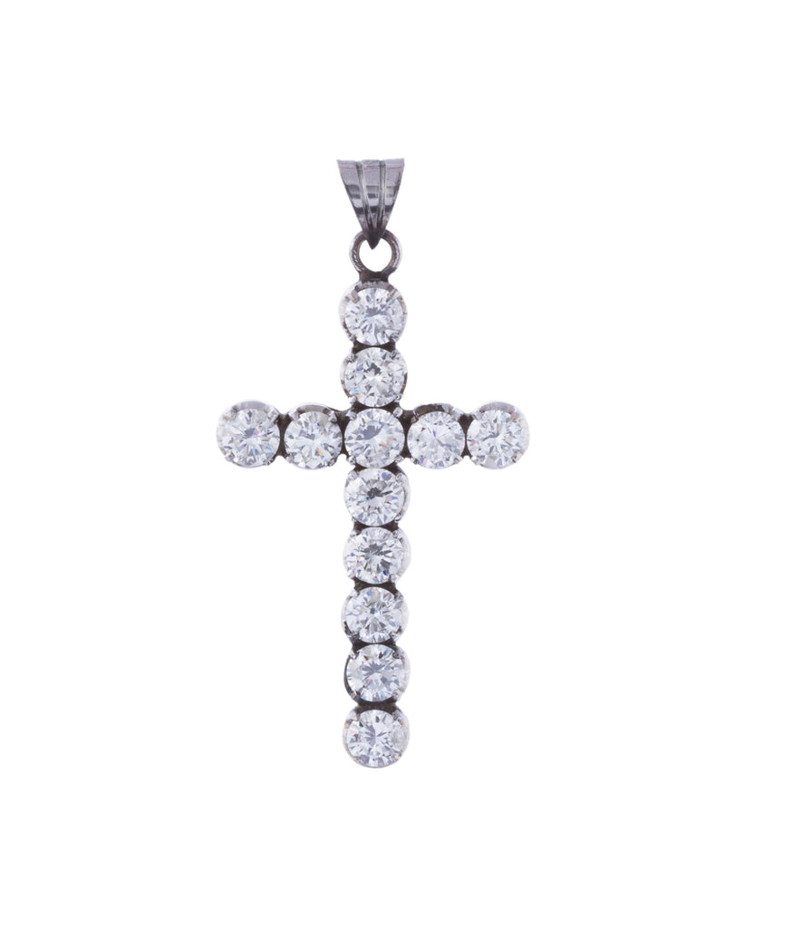 Scintillating diamond cross pendant