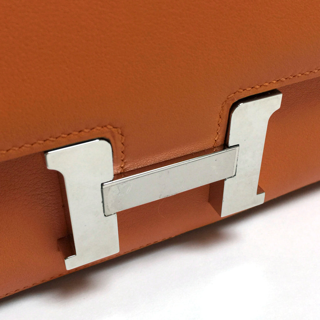 Hermes Orange Swift Leather Constance Elan Shoulder Bag (R Stamp)