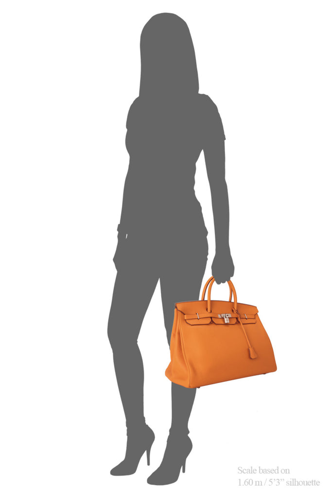 Pre-Owned Hermès Orange Taurillon Clemence Birkin 40