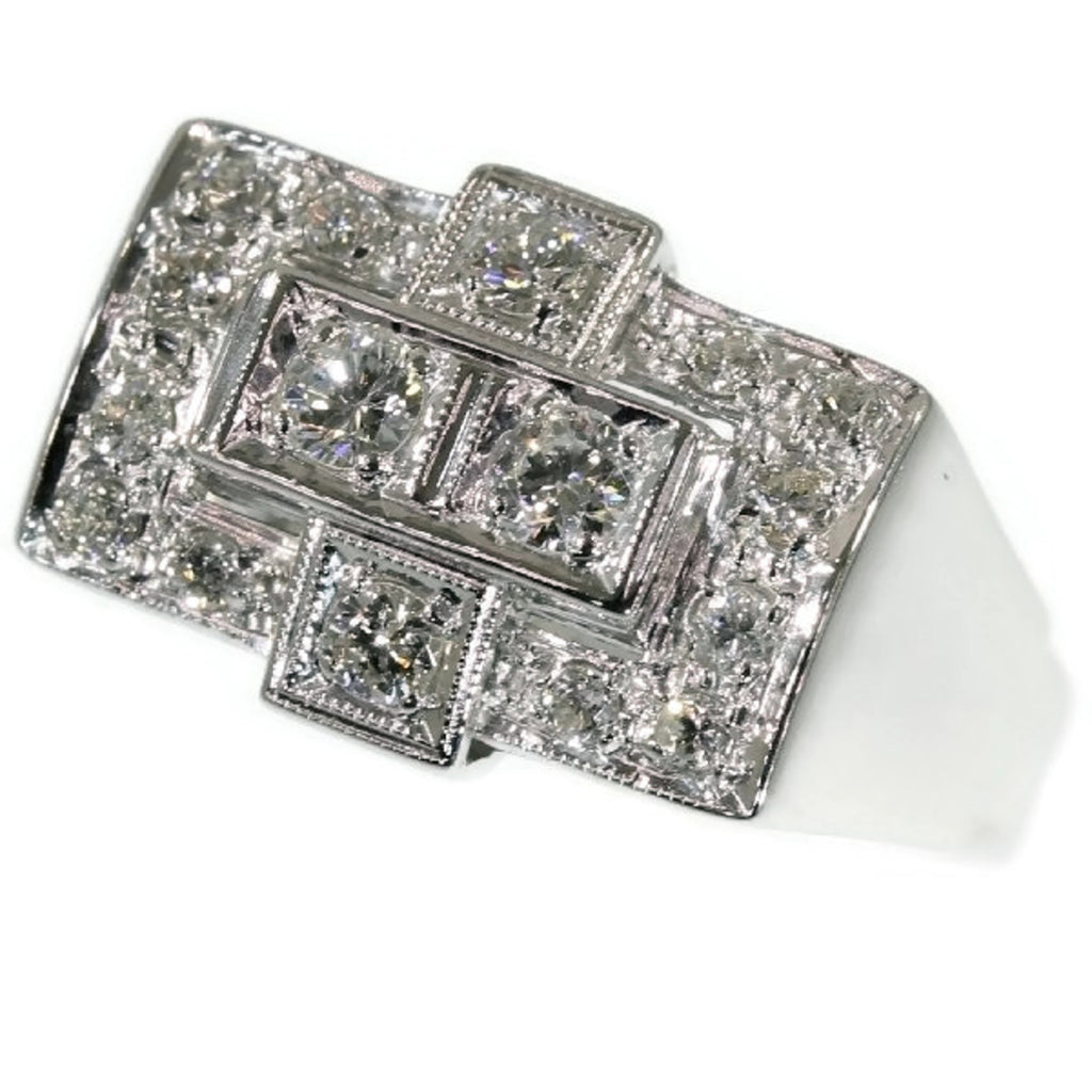Art Deco style diamond ring from the 50s
