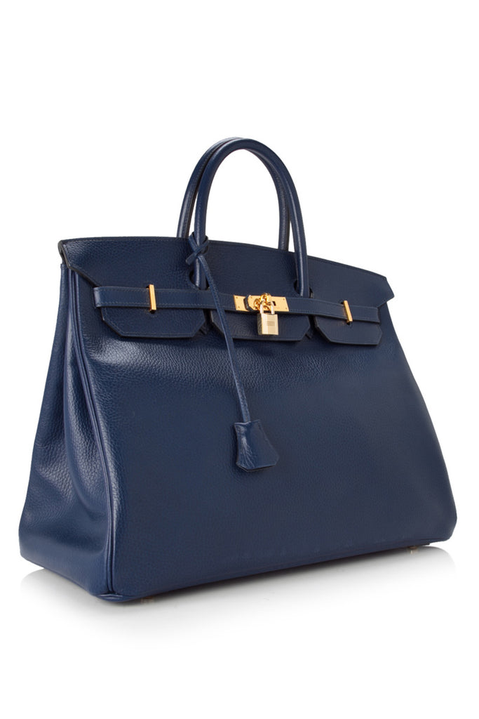 Pre-Owned Hermès Blue Roy Ardennes Leather Birkin 40