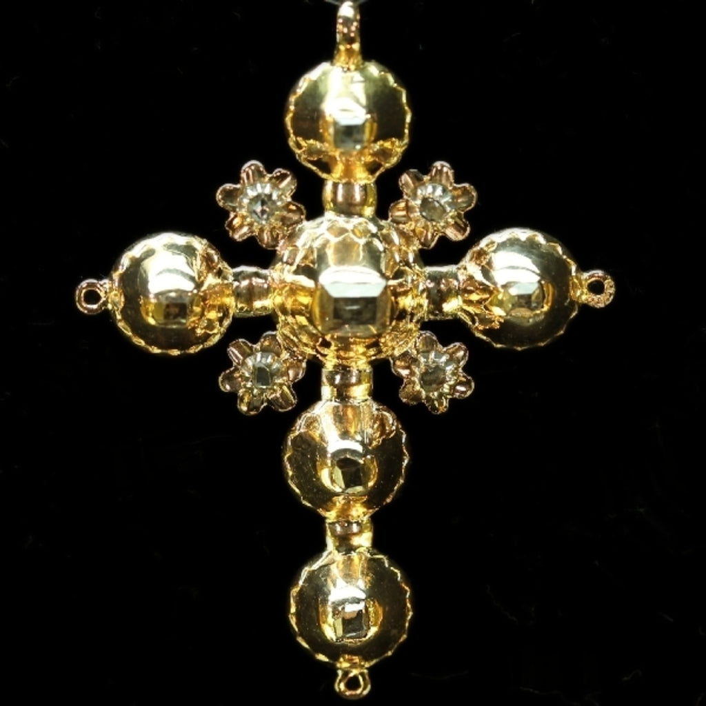 Antique Belgian Georgian gold cross