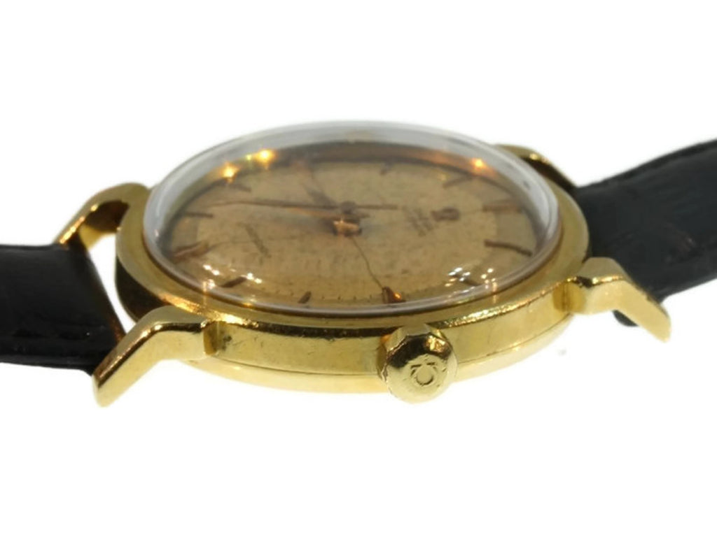 Early Omega Seamaster in gold case