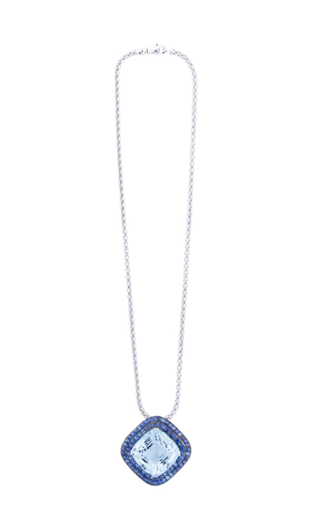 Pave sapphire necklace