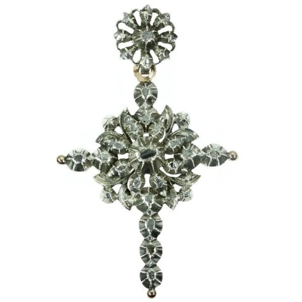 Flemish Victorian diamond cross
