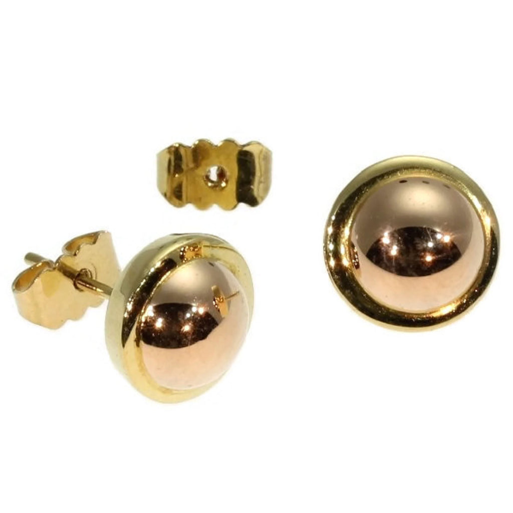 Sleek designed Art Deco ear studs