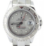 PRE OWNED LADIES ROLEX STAINLESS STEEL & PLATINUM YACHT-MASTER DATE 169622
