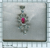Estate diamond and ruby pendant