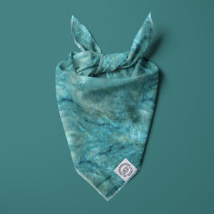 Emerald Green Ice Dye Bandana