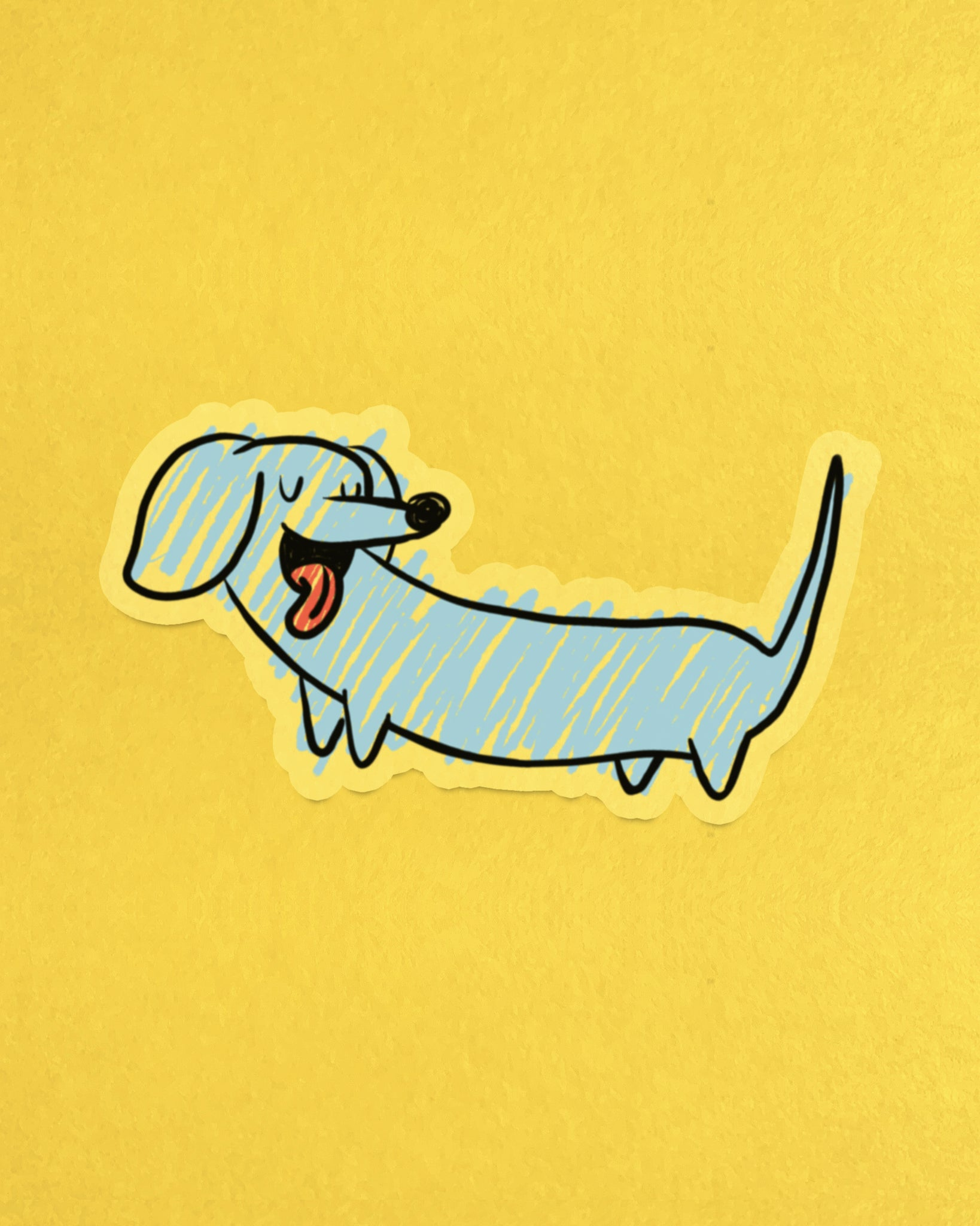 Scribble Dog Sticker