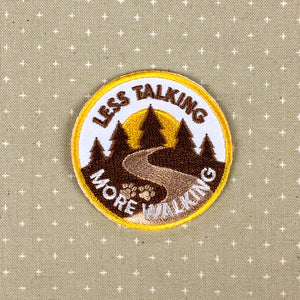 Less Talking, More Walking - Dog Merit Badge