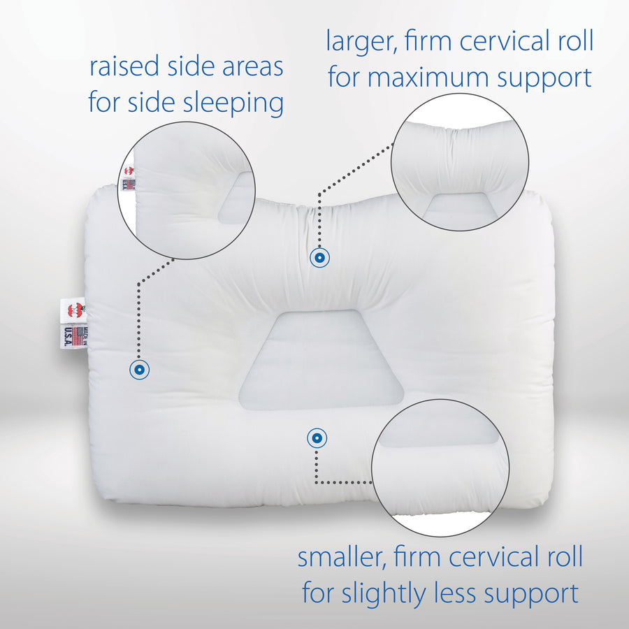 Tri-Core Cervical Support Pillow Full Size - Firm Support - 2 Pack