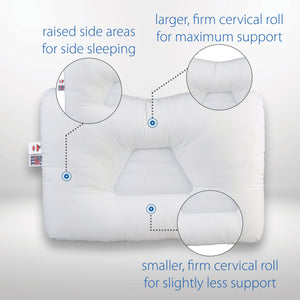 Tri-Core Cervical Support Pillow Full Size - Gentle Support - 2 Pack