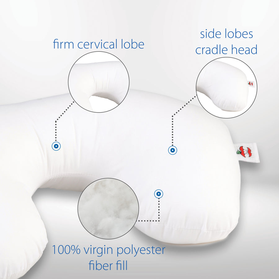 Tri-Core Cervical Support Pillow - Midsize - Firm & Travel Core Combo