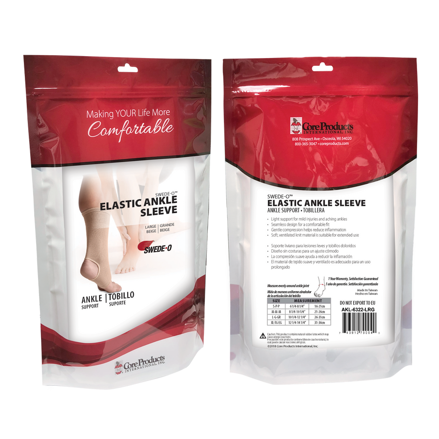Swede-O Elastic Ankle Support Sleeve