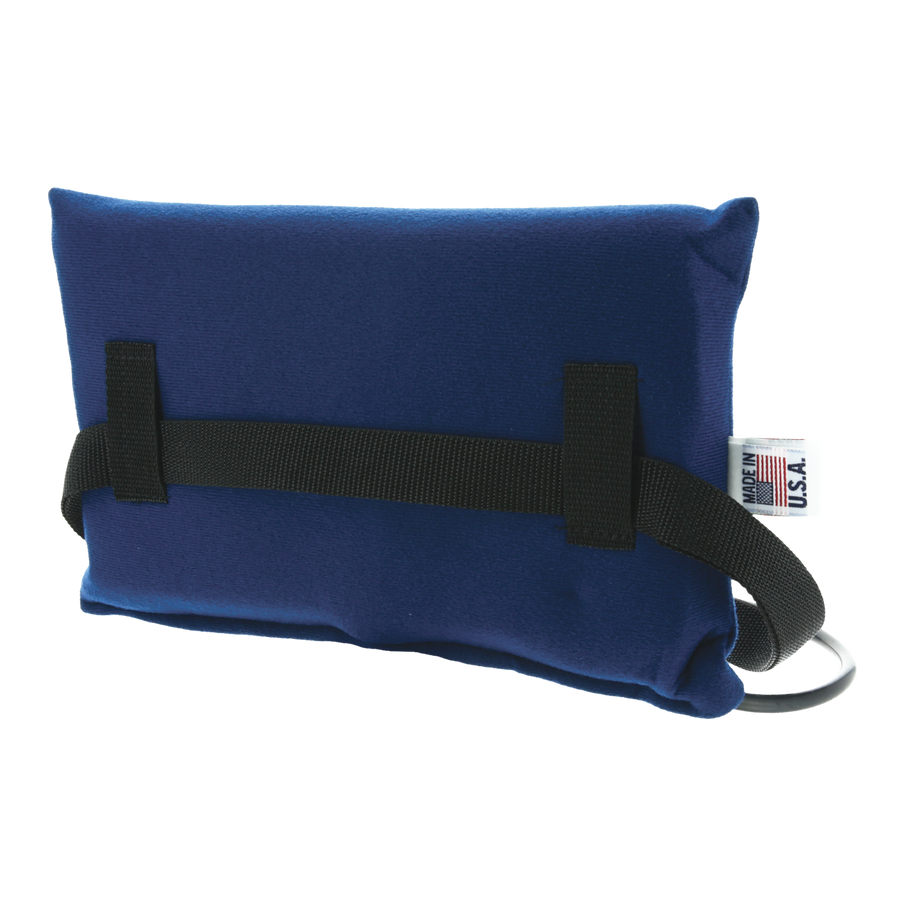 Small Inflatable Lumbar Cushion Blue