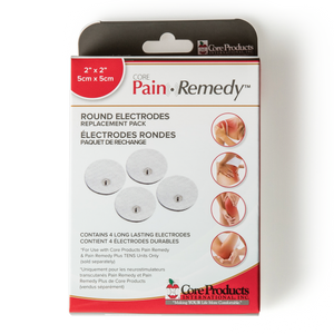 Core Pain Remedy TENS Round Electrodes 4 Pack
