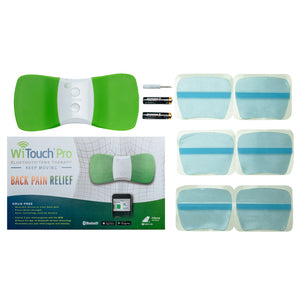 WiTouch Pro Bluetooth Wireless TENS Device - Includes 6 Gel Pads (3 Pair)