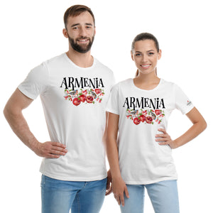 Armenian Pomegranate White  T-Shirts