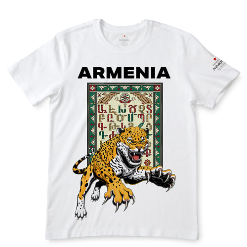 Armenian Alphabet White T-Shirts