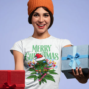 Merry Green Christmas White T-Shirts