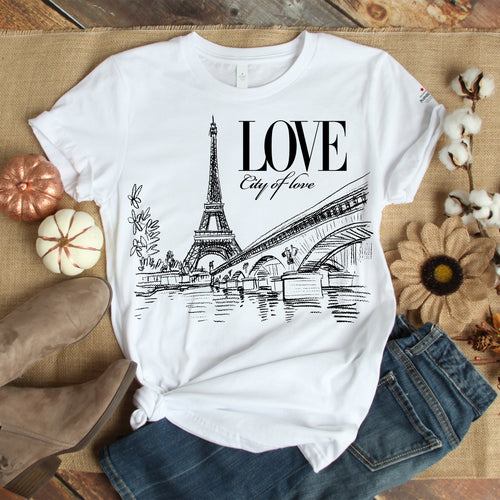 City Of Love Withe T-Shirts