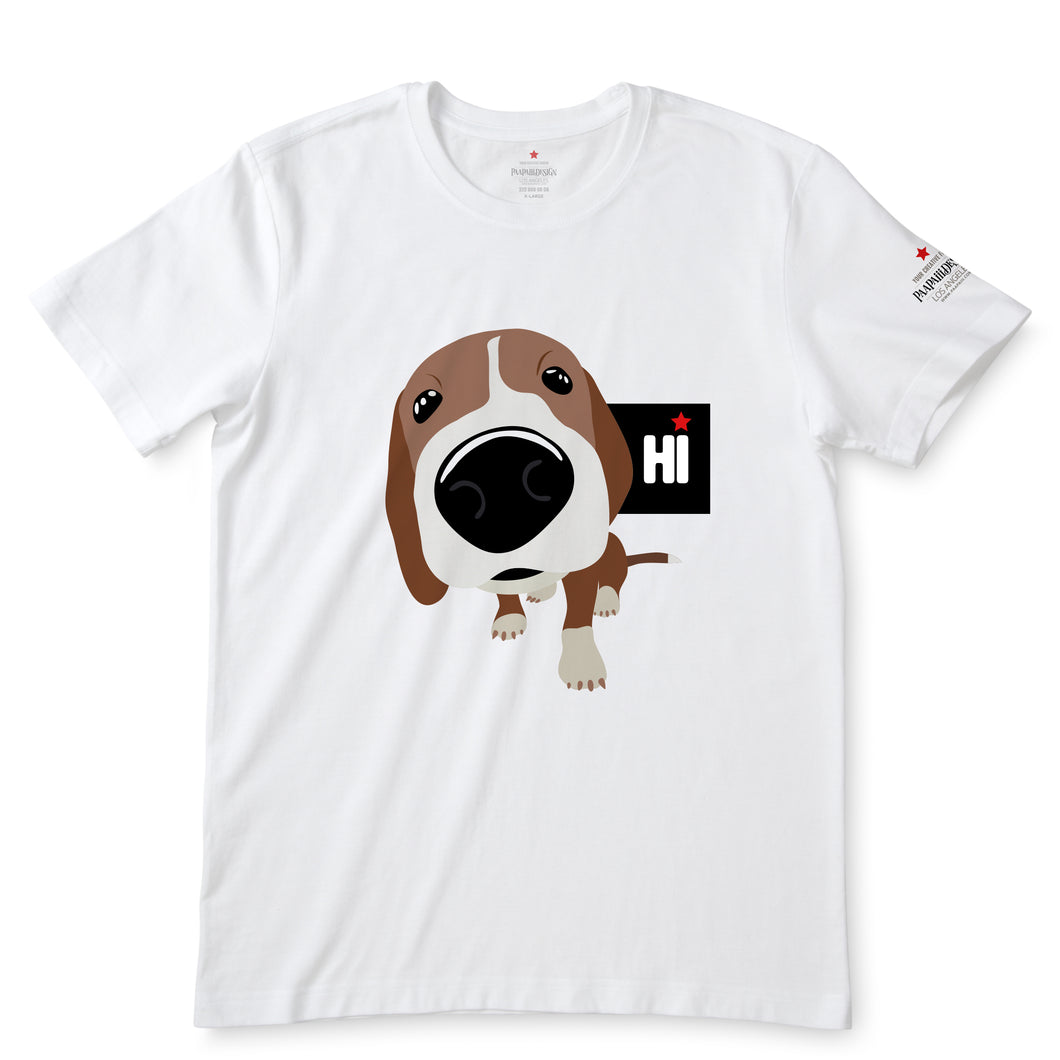Hi Puppy Cartoon Smile T-Shirts
