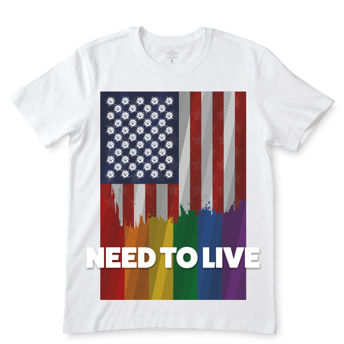 Need To Live With Love White T-Shirts