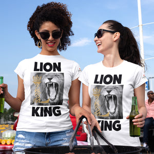 Lion King  White T-Shirts