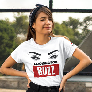 Looking For Buzz White T-Shirts