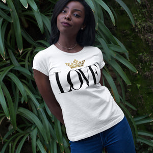 Gold Love White T-Shirts