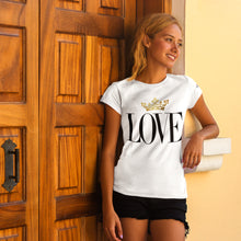 Load image into Gallery viewer, Gold Love White T-Shirts