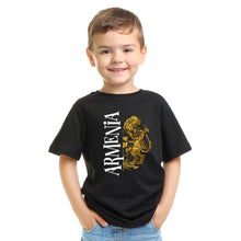 Load image into Gallery viewer, Golden Lion Armenian Coat of Arms Black  T-Shirts