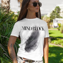 Load image into Gallery viewer, Black Feather White T-Shirts