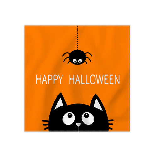 Happy Halloween Cloth Dinner Napkins, 17''x17''