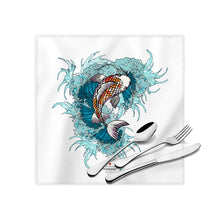 "Load image into Gallery viewer, Fish Day Cloth Dinner Napkins , 17""x17"""