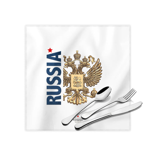 Russian Coat Of Arms Cloth Dinner Napkins , 17