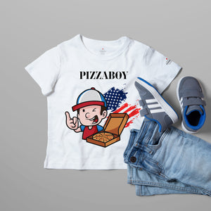 Pizza Boy White T-Shirts