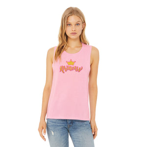 Pink Princess with Crown Tank