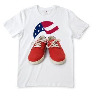 US Shoes White t-Shirts