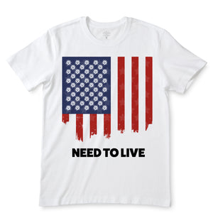 Need To Live White T-Shirts