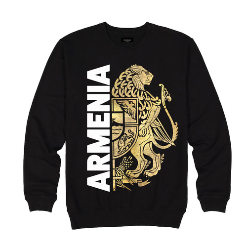 Golden Lion Armenian Coat of Arms Black Sweatshirts